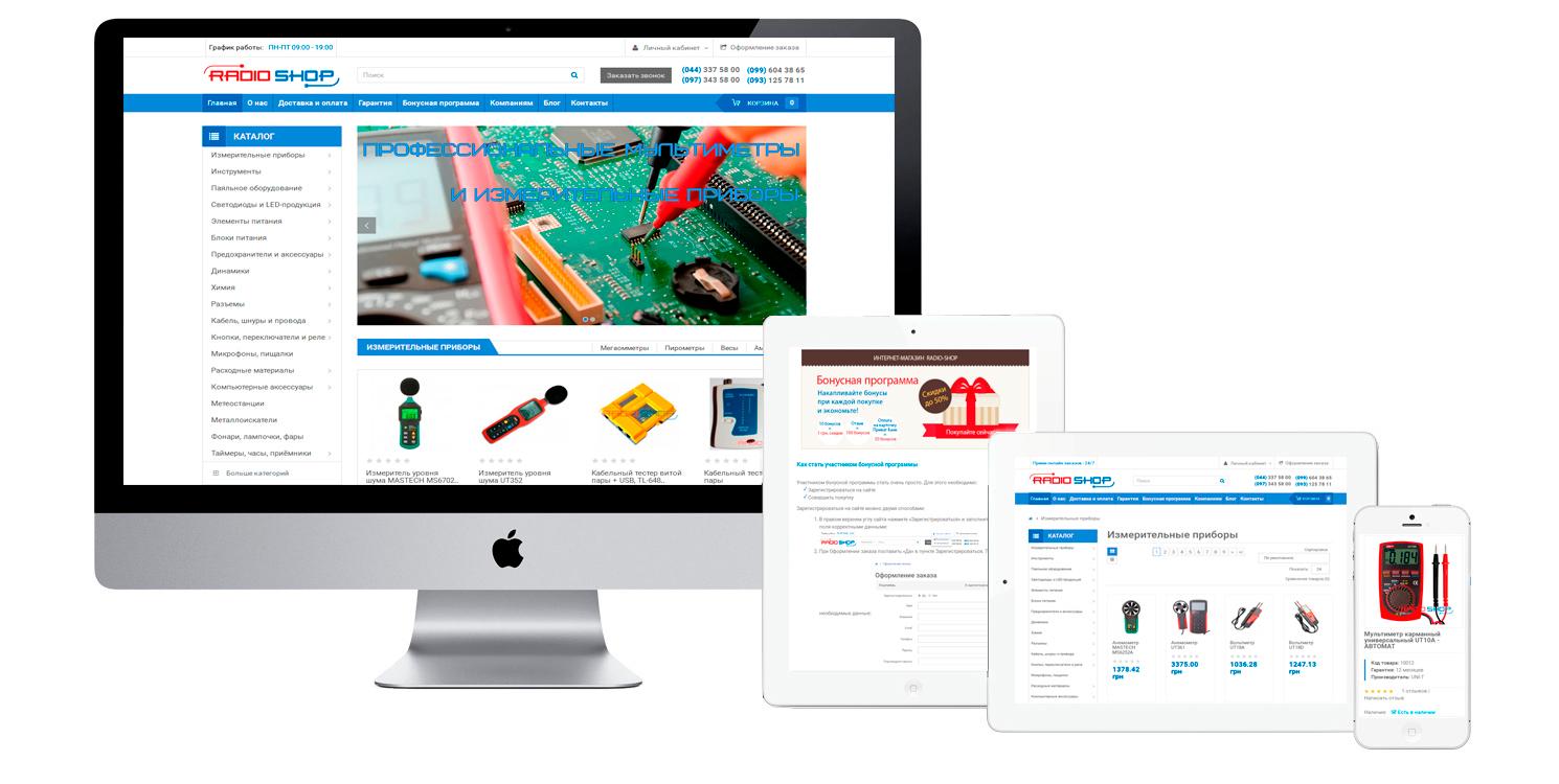 Development of online shop Radio-Shop