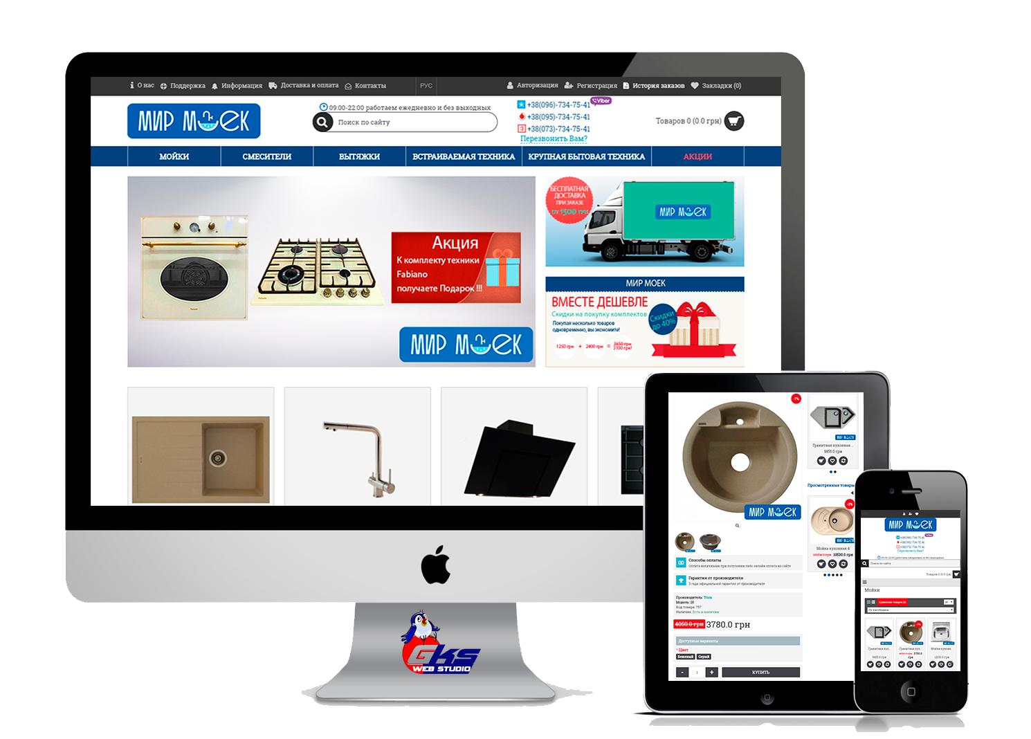 "Development of an online store ""World of sinks"""